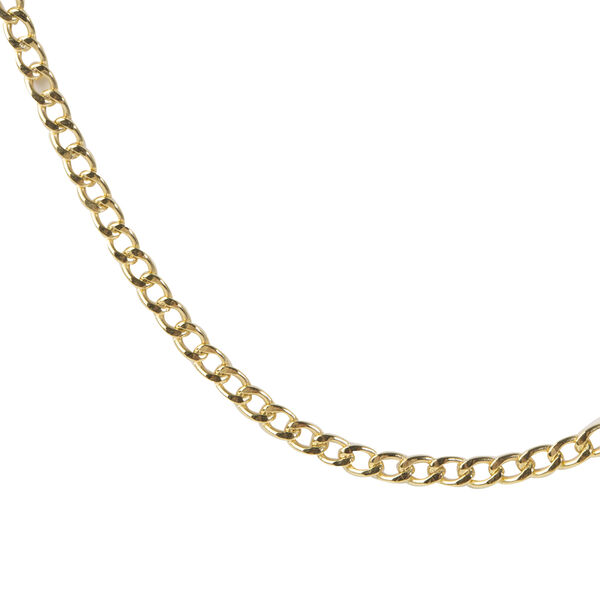 Hatton Garden Close Out 9K Yellow Gold Curb Necklace (Size 24) with Round Clasp