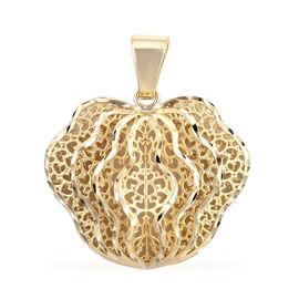 Royal Bali Hibiscus Bud Pendant in 9K Gold Weight 4 Grams