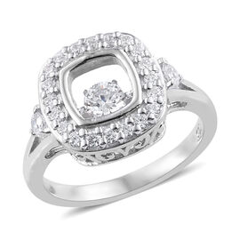 Made with Swarovski Zirconia Dancing Ring in Sterling Silver 4.5 Grams