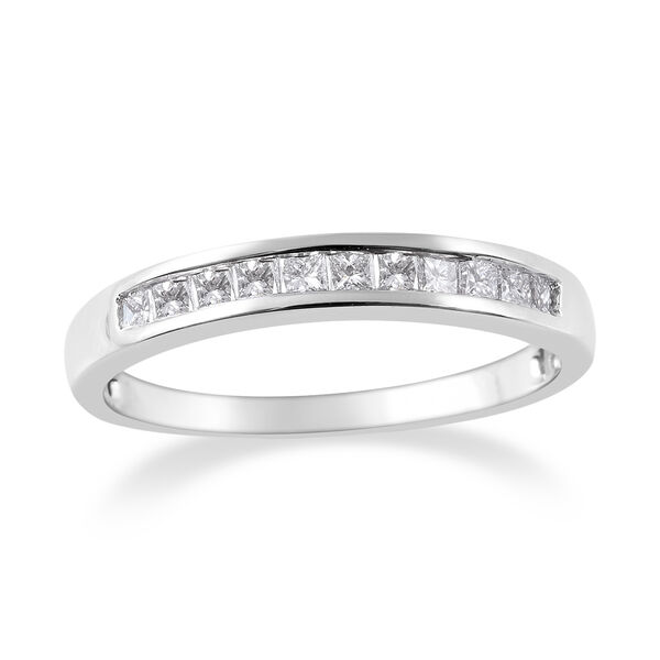 RHAPSODY 0.50 Ct Diamond Band Half Eternity Band Ring in 950 Platinum 4 Grams IGI Certified VS EF