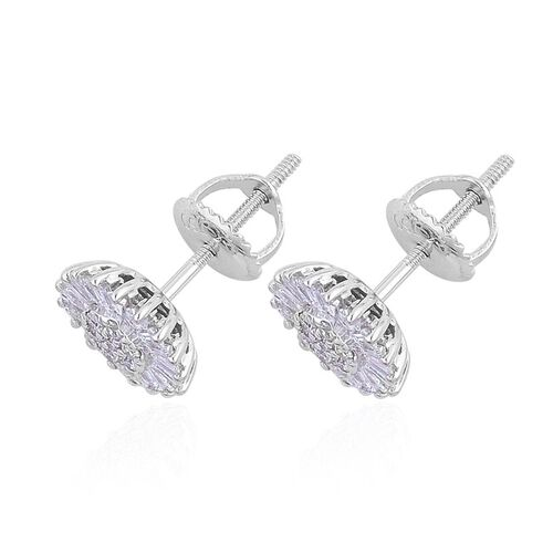 ILIANA 18K White Gold IGI Certified Diamond (Rnd) (SI/G-H) Stud Earrings (with Screw Back) 0.500 Ct.