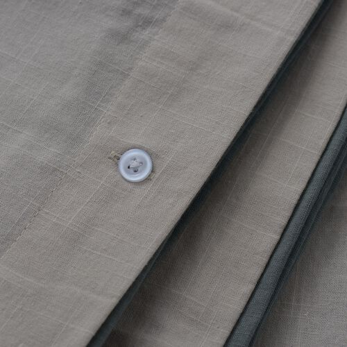 100% Cotton Green and Beige Colour Duvet Cover (Size 200 x 200 Cm) and 2 Pillow Case (Size 75x50 Cm)