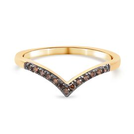 Red Diamond Band Ring in 14K Gold Overlay Sterling Silver 0.07 ct  0.070  Ct.