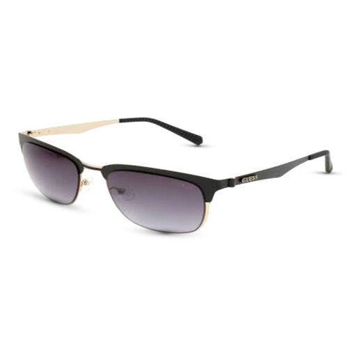 GUESS Black Clubmaster Sunglasses with Black Lenses