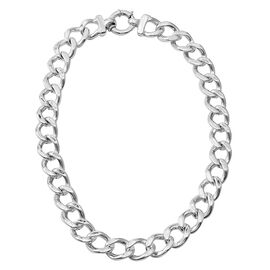 JCK Vegas Collection Sterling Silver Curb Necklace (Size 20), Silver wt 55.35 Gms.