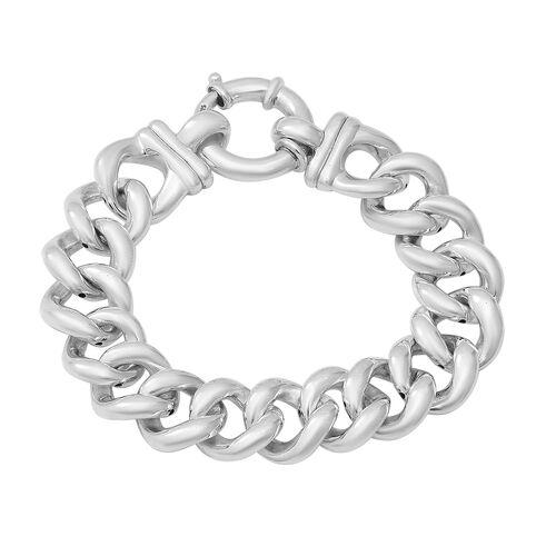 Link Bracelet with Senorita Clasp in Thai Sterling Silver 7.5 Inch