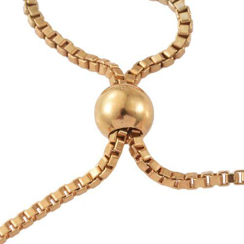 Diamond (Rnd) Adjustable Floral Bracelet (Size 6.5 to 8.5) in 14K Gold Overlay Sterling Silver 0.750 Ct. Silver wt 7.65 Gms.
