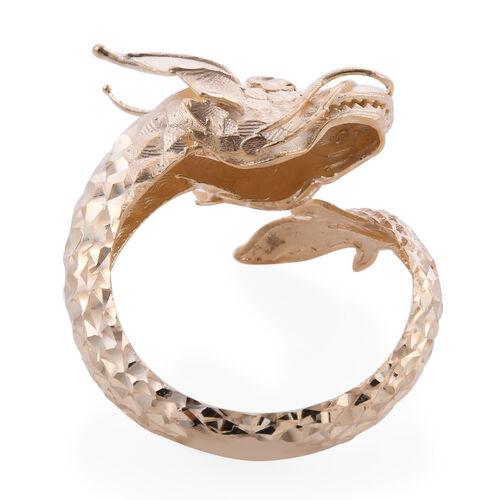 Designer Close Out - Royal Bali Collection 9K Yellow Gold Dragon Ring