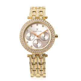 DANIEL KLEIN Crystal Studded Watch