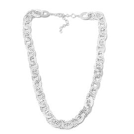 Link Chain Necklace in Silver 28.70 Grams 18 with 1.5 inch Extender