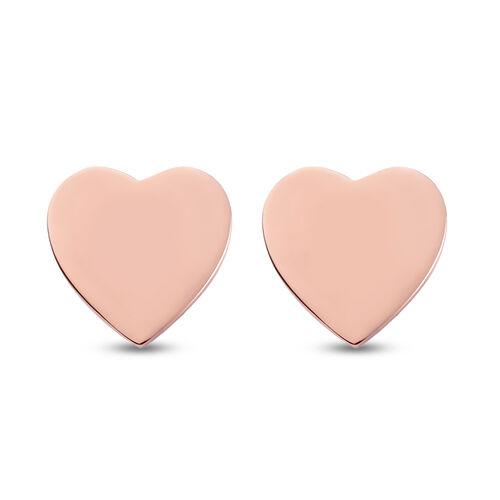 Personalise Engraved Initial Heart Stud Earrings
