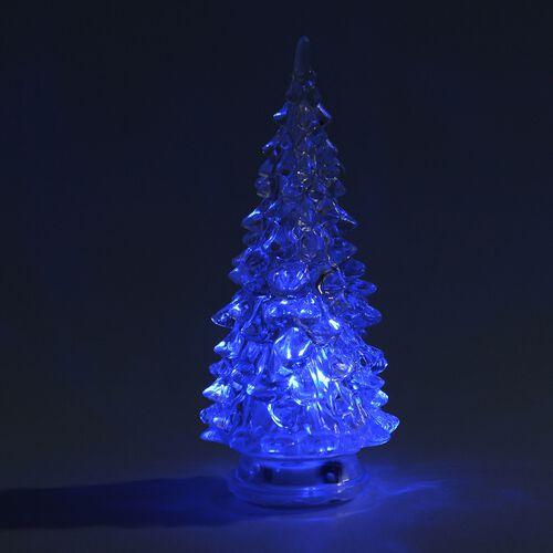 Set of 5 - Colour Changing LED  Christmas Tree  - Size 14 Cm