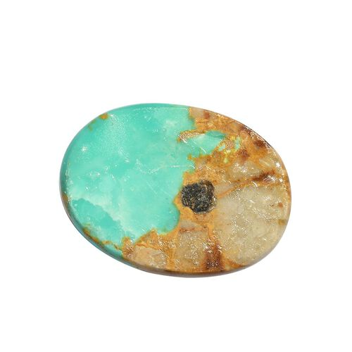 AAA Royston Turquoise Oval 18x13 Cabochon 8.95 Cts