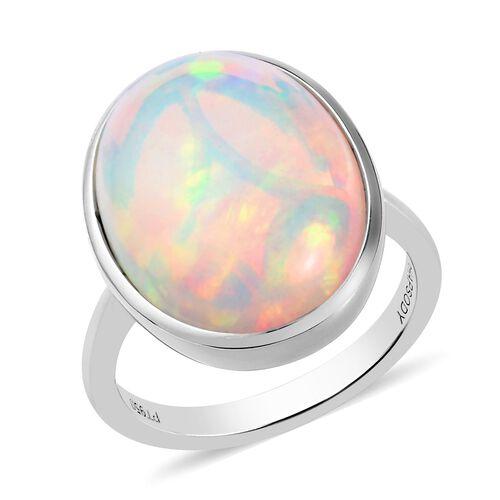 RHAPSODY 950 Platinum Ethiopian Welo Opal Ring 7.75 Ct, Platinum wt. 5.50 Gms