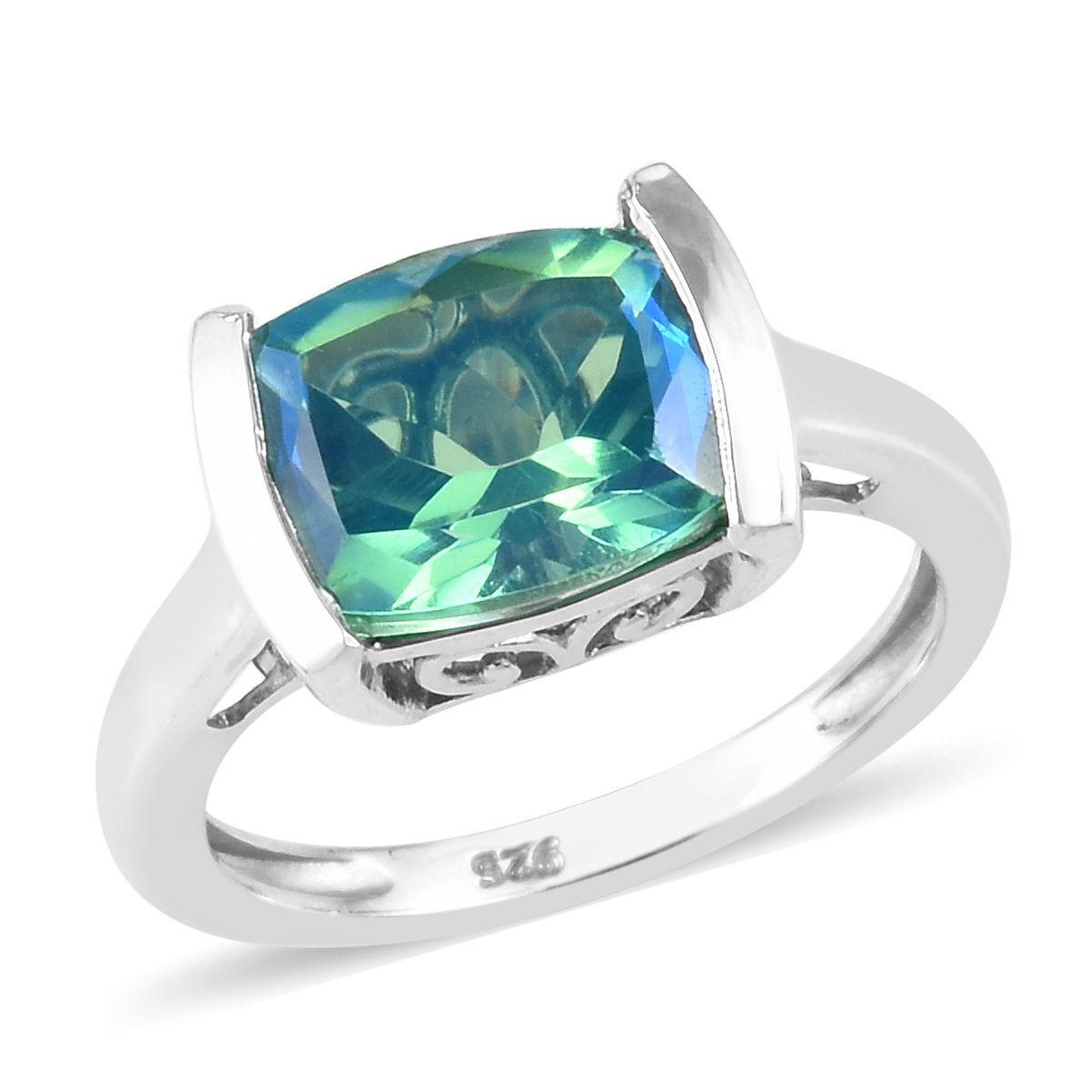 Designer Green Crackle Quartz Sterling Silver Overlay 20 Grams Charm//Bracelet Free Size