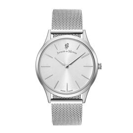 Jacques Du Manoir Emotion Swiss Movement Silver Dial Water Resistant Watch with Milanese Bracelet St