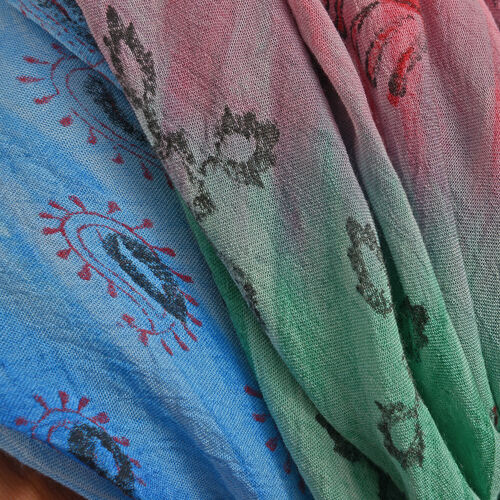 New For Season - Pink, Blue and Multi Colour Paisley Pattern Apparel (Free Size)