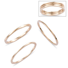 Set of 3 High Finish Twist Band Stacker Ring in 9K Gold 3.48 Grams