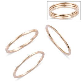 Set of 3 - 9K Yellow Gold Ring