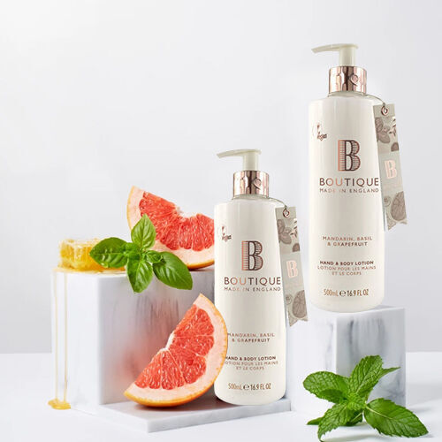 Boutique: Mandarin, Basil & Grapefruit Hand & Body Lotion - 500ml