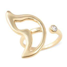 Isabella Liu - Butterfly Reborn Collection - Simulated Diamond (Rnd) Adjustable Ring in 18K Yellow G