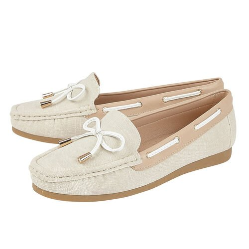 Lotus Hannah Boat Shoes (Size 3) - Natural