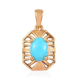 Arizona Sleeping Beauty Turquoise Pendant in 14K Gold Overlay Sterling Silver 1.25 Ct.