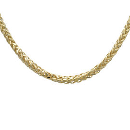 Italian Made- 9K Yellow Gold Adjustable Spiga Serpent Necklace(Size 22), Gold Wt 8.80 Gms