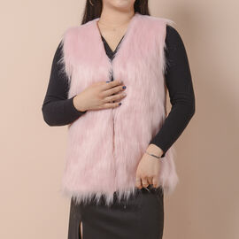 Pink Colour Faux Fur Gilet  (One Size Fits all; 50x70 Cm)