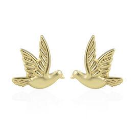 JCK Vegas Collection Stud Bird Earrings in 9K Yellow Gold
