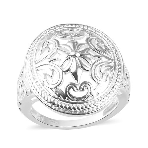 Sterling Silver Floral Dome Ring