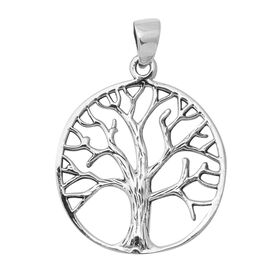 Oxidised Sterling Silver Tree of Life Pendant