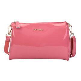 SENCILLEZ 100% Genuine Leather Crossbody Bag with Detachable Strap and Zipper Closure (Size 29x9x17c