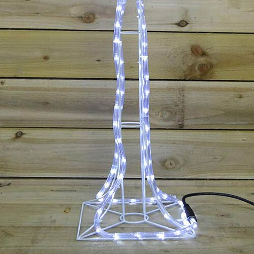 1M 168 LED Rope Lamp Post - White