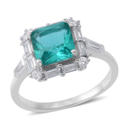 Designer Inspired Elanza Simulated Paraiba Tourmaline