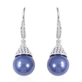 Super Auction- Haliotis Asinina Tanzanite Colour Shell Pearl (Rnd 10 mm), Natural Cambodian Zircon L