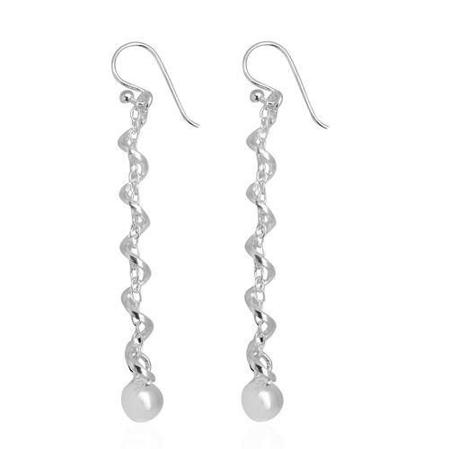 Sterling Silver Hook Earrings, Silver wt 3.82 Gms.