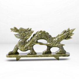 Handcrafted Jade Decorative Walking Dragon Figurine (Size 27 x 14 Cm)