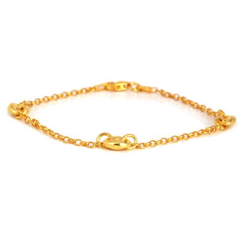 14K Gold Overlay Sterling Silver Necklace (Size 20) and Bracelet (Size 7.5), Silver wt 8.00 Gms.