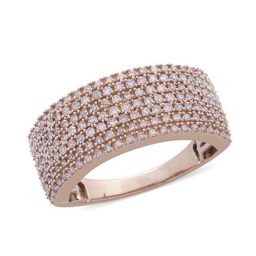 ILIANA 18K Rose Gold Natural Pink Diamond Ring 1.000 Ct. Gold Wt 6.60 Gms
