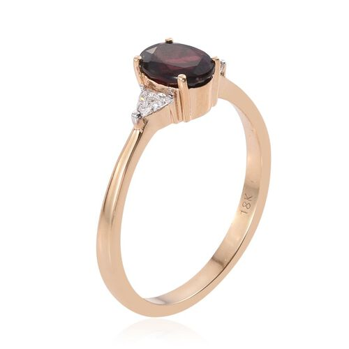 ILIANA 18K Yellow Gold Top Noble Red Spinel (Ovl 2.10 Ct), Diamond Ring 2.300 Ct.