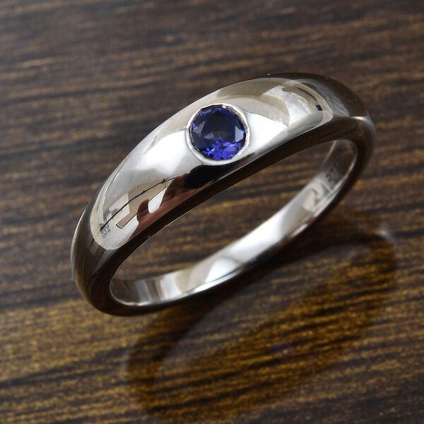 RHAPSODY 950 Platinum AAAA Tanzanite Ring, Platinum wt 6.77 Gms.