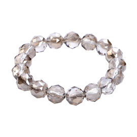 Simulated Grey Topaz Stretchable Bracelet (Size 6.75)