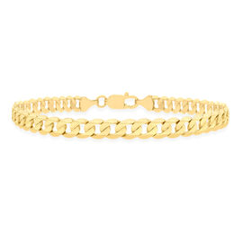 9K Yellow Gold Diamond Cut Curb Bracelet (Size 8), Gold wt 8.90 Gms.