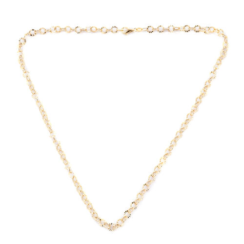 Royal Bali Collection - 9K Yellow Gold Fancy Rolo Necklace (Size 18) with Lobster Lock, Gold wt 4.66