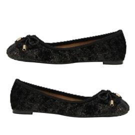 Black Patch Slip-On Shoe (Size 3)