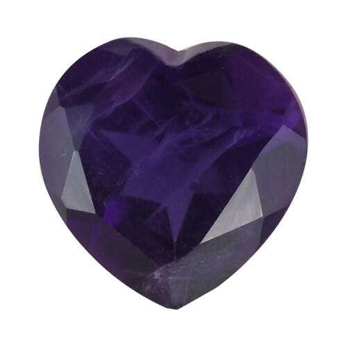 1.03 Ct AAA African Amethyst Heart Shape Gemstone (7mm) with Box