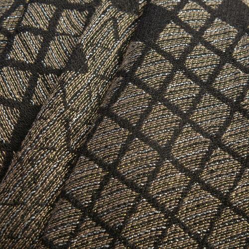Black Colour Lurex scarf (Size 185x70 Cm)