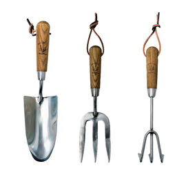 Jardin de France Set of Three Gardening Tools in Stainless Steel