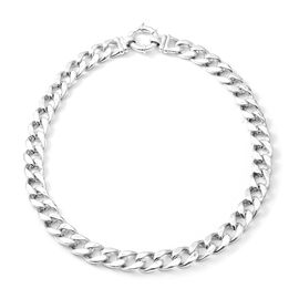 Limited Available 20 Inch Curb Link Necklace in Rhodium Plated Sterling Silver 53 Grams